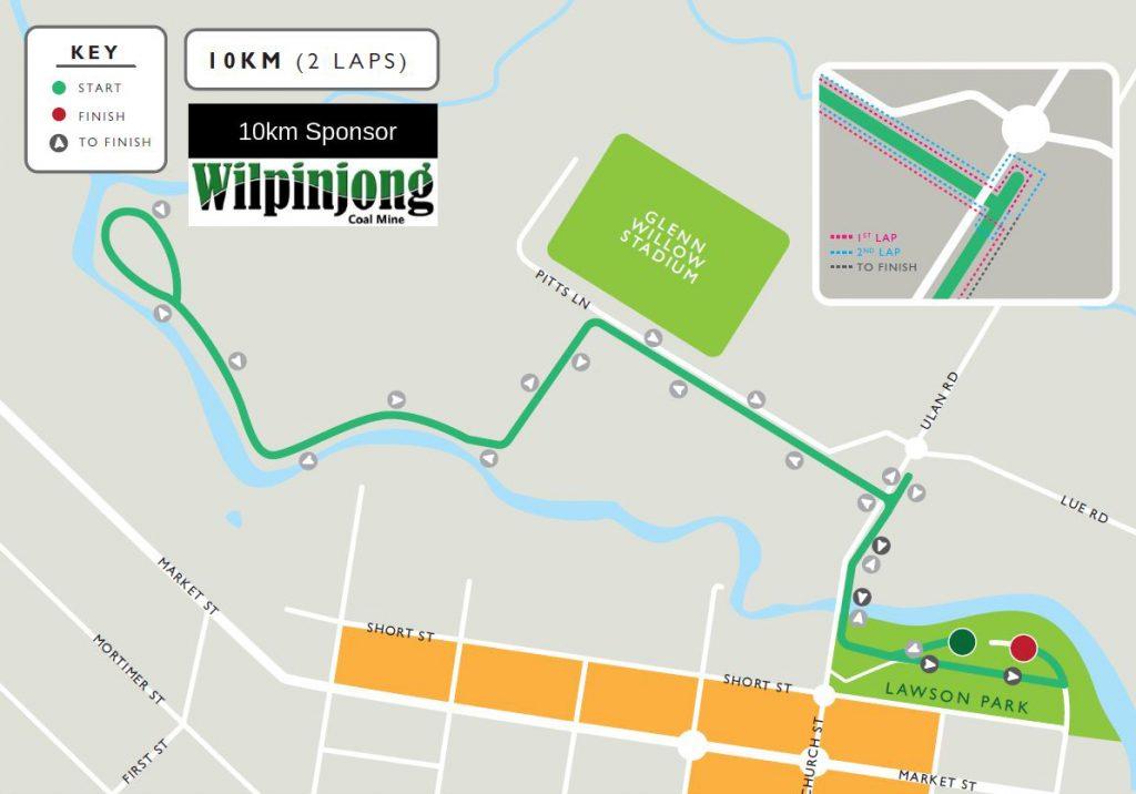 10km Fun Run course map