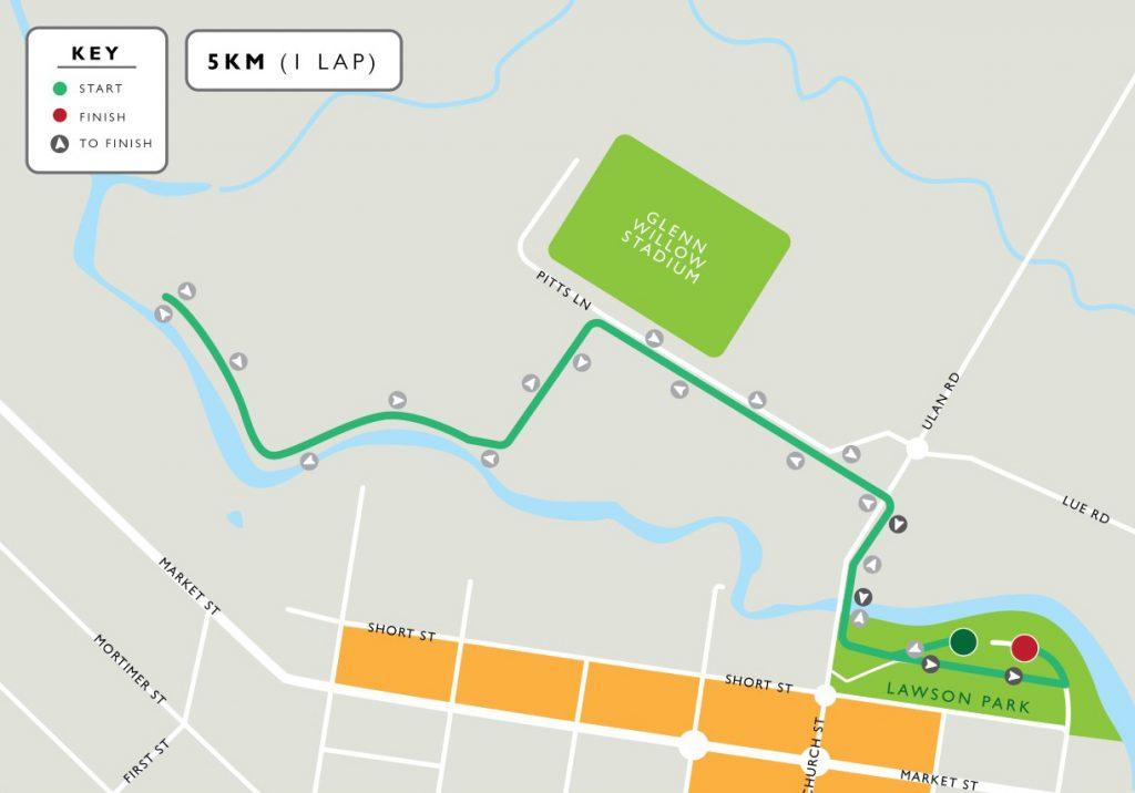 5km fun run walk course map