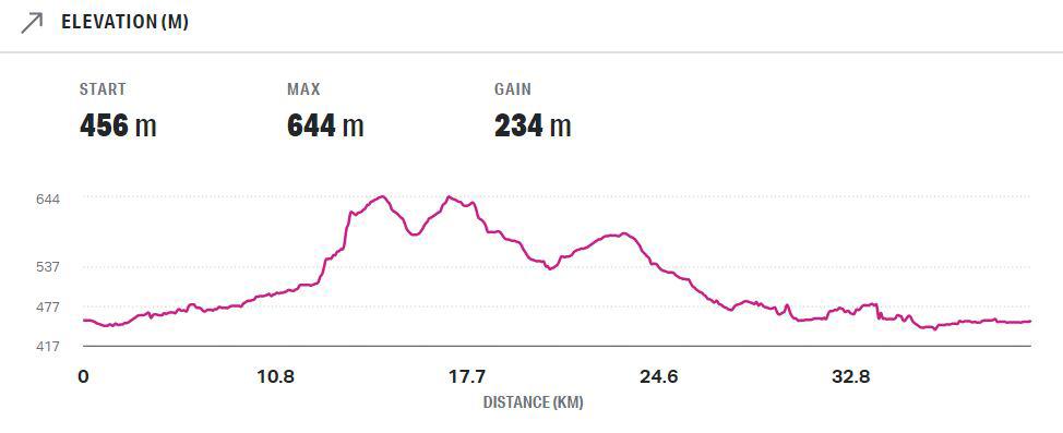 mudgee marathon elevation map