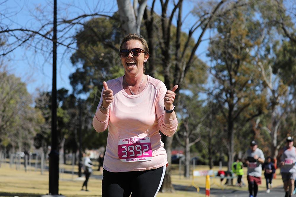 fun run mudgee 5km thumbs up