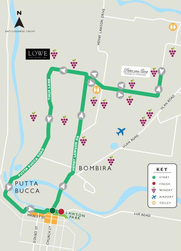 half marathon map mudgee running festival
