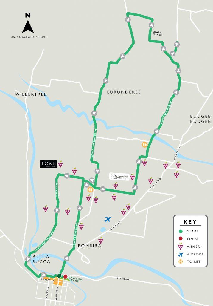 mudgee marathon course map