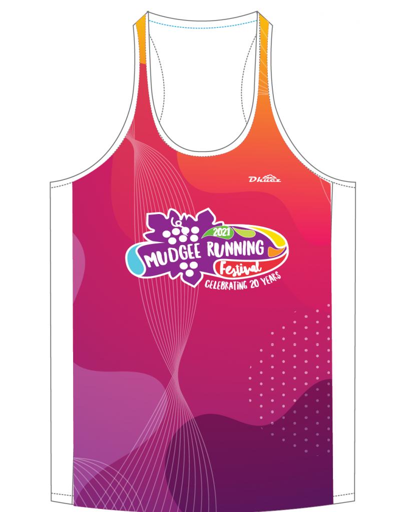 Mudgee Running Festival merchandise - singlet